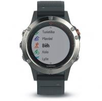 GARMIN FENIX 5 Silver Optic, Black band