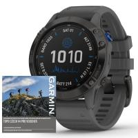 GARMIN FENIX 6 PRO Solar, Black/Slate Band (MAP/Music)