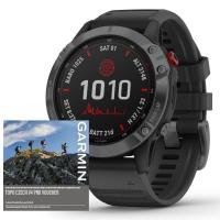 GARMIN FENIX 6 PRO Solar, Gray/Black Band (MAP/Music)